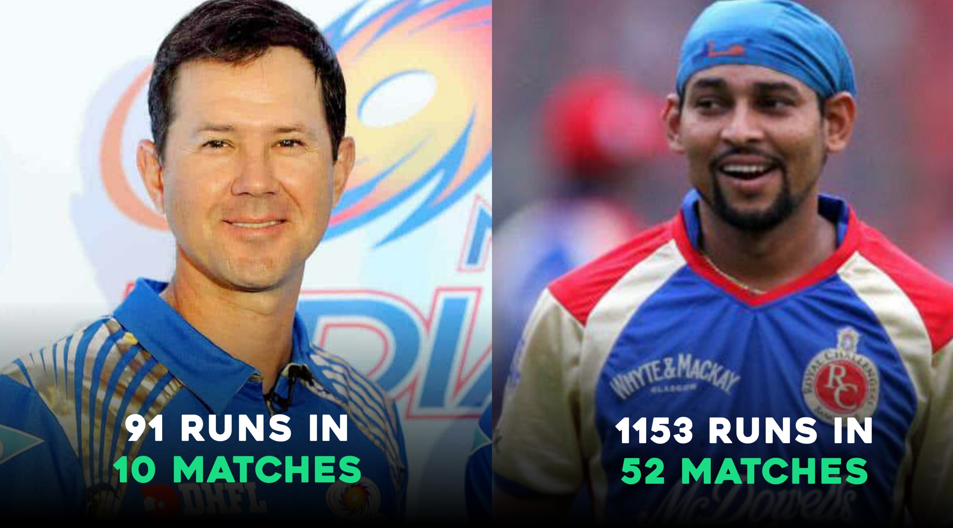 Ricky Ponting and T Dilshan