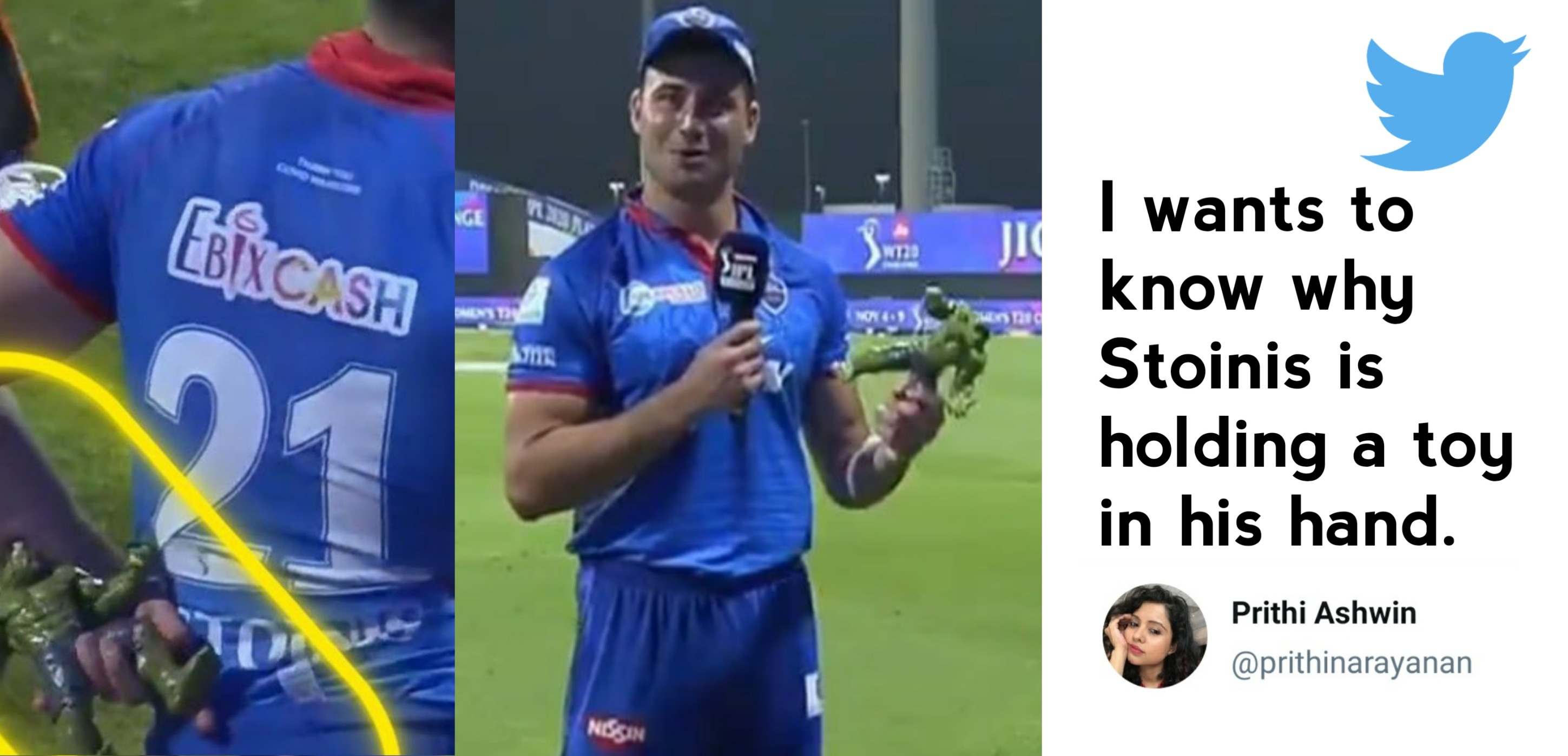 Marcus Stoinis reveals the reason behind carrying a Hulk action figure in presentation ceremony