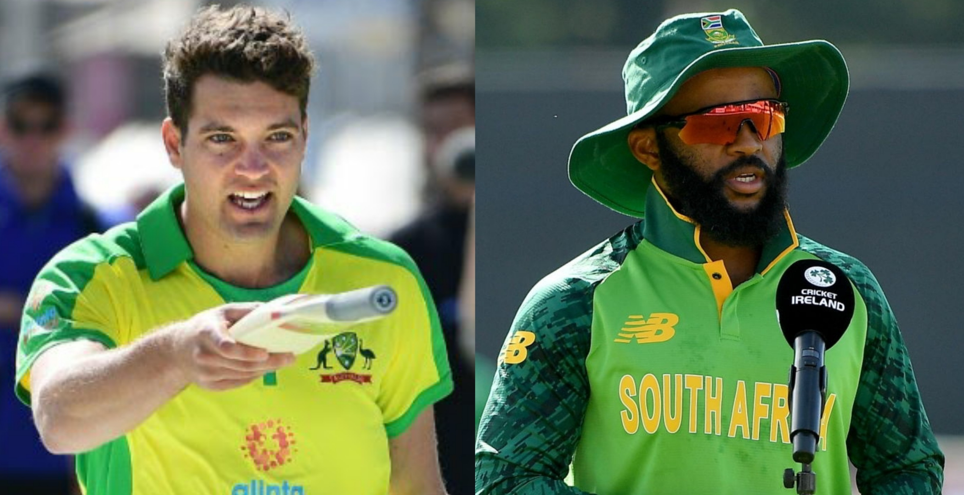 Cricketers Alex Carey and Temba Bavuma