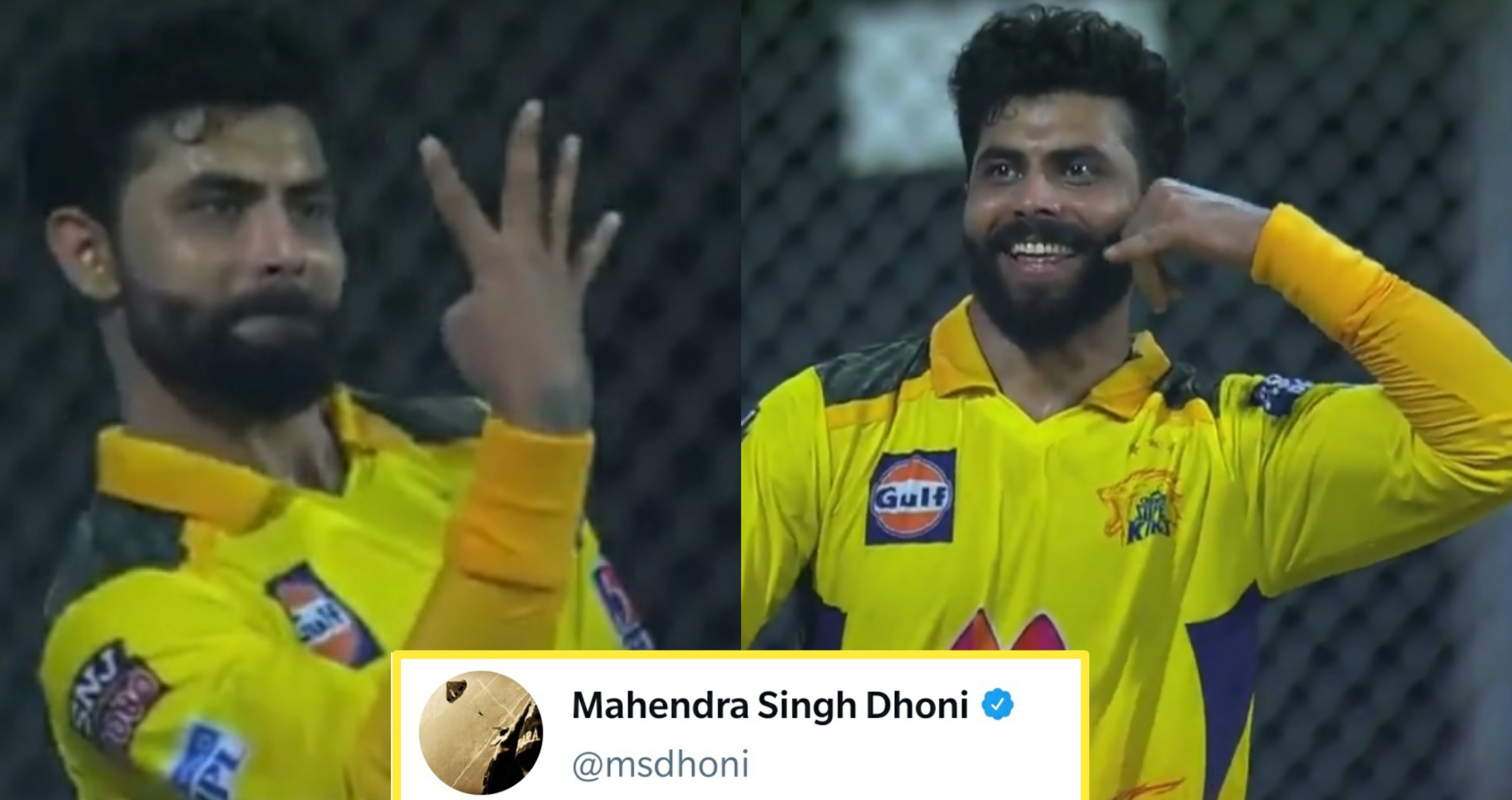 MS Dhoni's old tweet goes viral after Ravindra Jadeja takes four catches vs. RR
