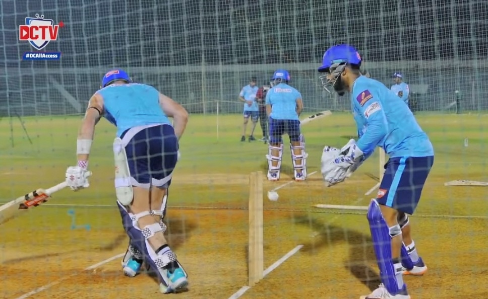 Rishabh Pant trolls Sam Billings in the practice session