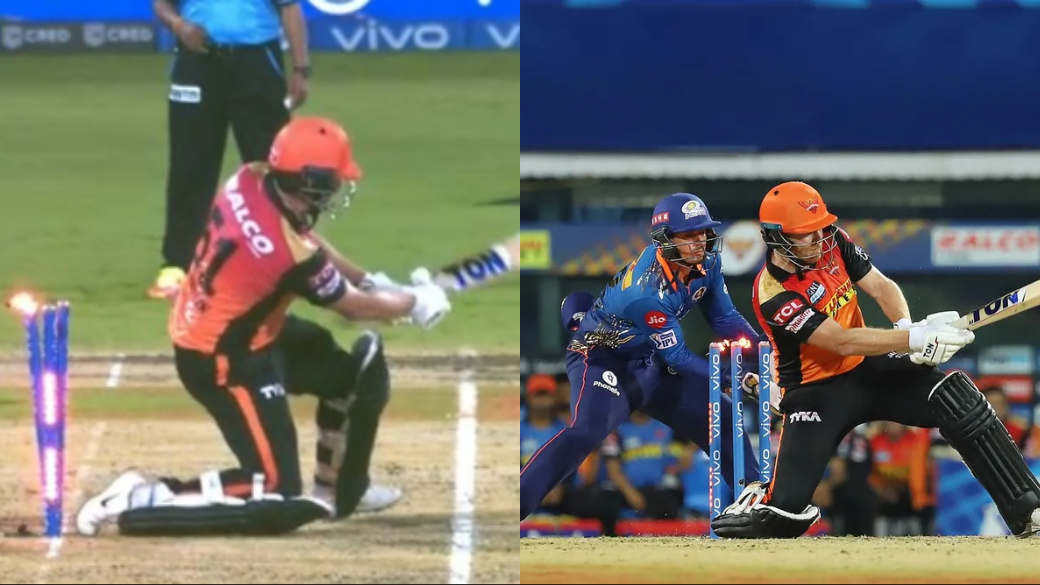 WATCH: Jonny Bairstow unfortunately gets hit wicket in IPL 2021